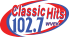 Classic Hits 102.7 red and blue logo